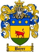Boyer Family Crest / Coat of Arms JPG or PDF Image Download